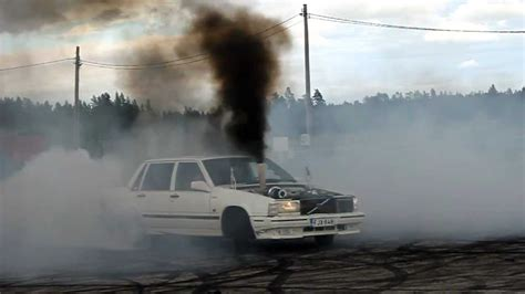 volvo  turbo diesel om burnout youtube