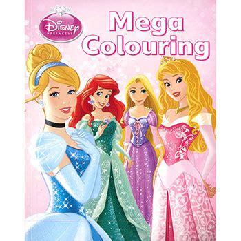 princess coloring book disney princess mega colouring book by disney children s