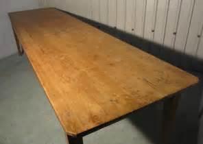 Large Pine Farmhouse Kitchen Table A Large Pine Farmhouse Kitchen Table Antiques Atlas