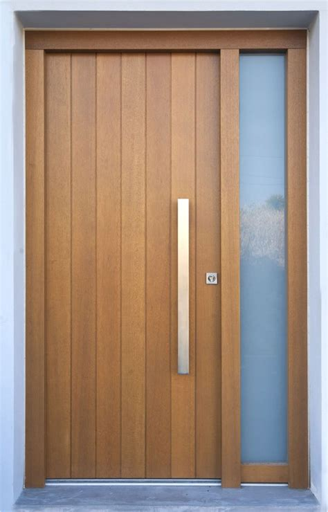 modern wood door solid wooden front door tylissos block95 great pin