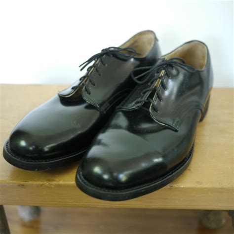 army oxford shoes new vintage us army dpsc black leather oxford