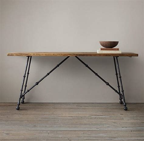 Restoration Hardware Console Table Oak And Iron Craftsman Console Table I Restoration Hardware