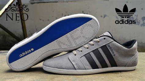 Sepatu Adidas Neo Laser V Canvas Hitam Biru Cowok 36 45 adidas neo abu abu