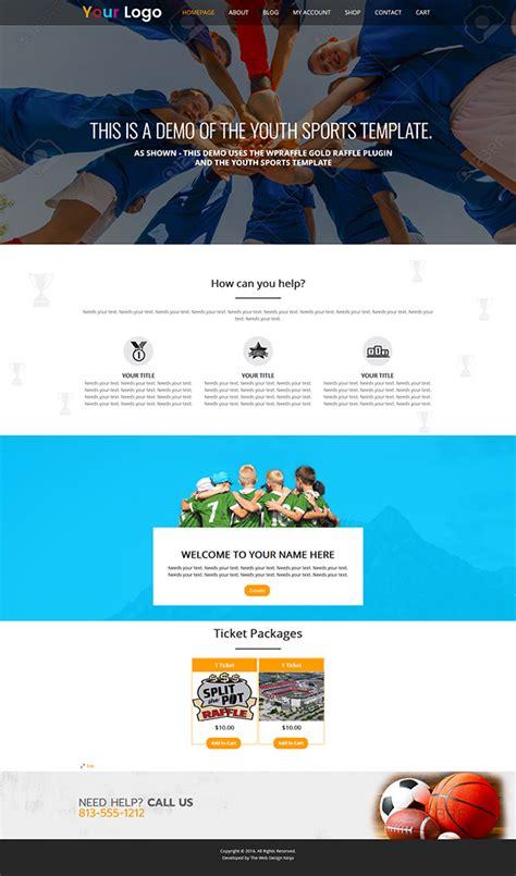 Youth Sports Raffle Theme Wordpress Raffle Ticket Generator For Woocommerce Ticket Generator Template