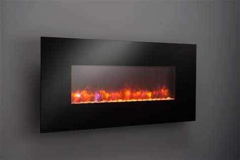 Wall Mounted Electric Fireplace Greatco 58 In Gallery Linear Wall Mount Electric Fireplace Ge 58