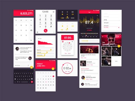 mobile app design templates 15 free android ui kits for mobile app designers naldz