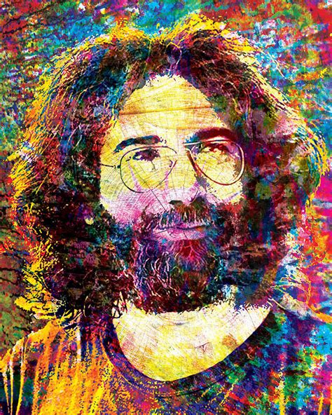 jerry painting jerry garcia artwork grateful dead canvas gd poster the