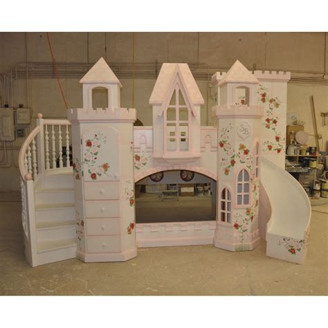 Princess Bunk Bed Castle Castle Vicari Bunk Bed Themed Beds By Tanglewood Design
