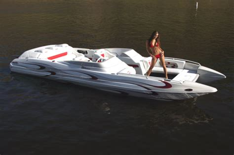 deck boat with jet drive new 2010 cheyenne tunnel jet hulls page 12