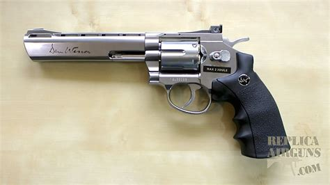 Sweety Silver M 38 asg dan wesson 6 inch silver co2 airsoft revolver table