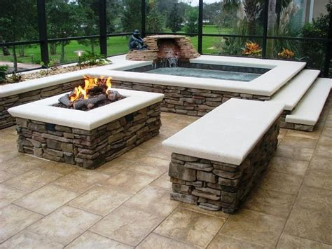 wood burning rectangle fire pit home fireplaces firepits