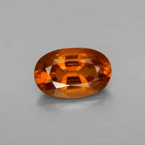 Spessartite Garnet 8 76ct orange hessonite garnet 1 8 carat oval from sri lanka