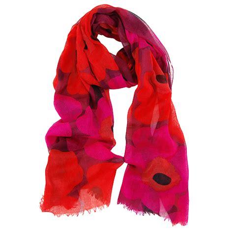marimekko unikko fiore burgundy scarf marimekko scarves