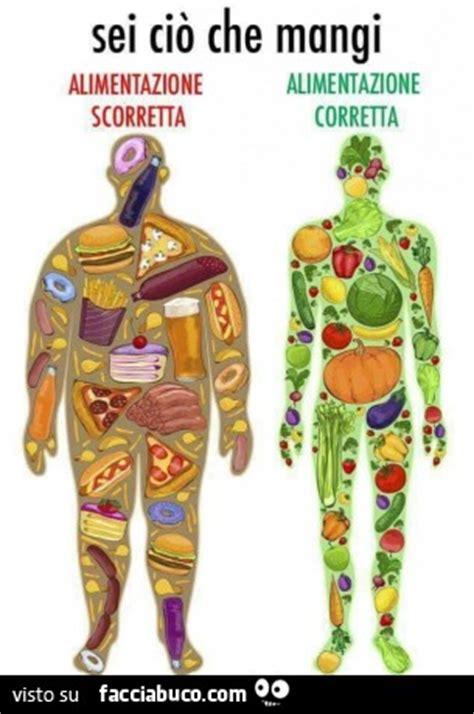 alimentazione corretta sei ci 242 mangi alimentazione scorretta alimentazione