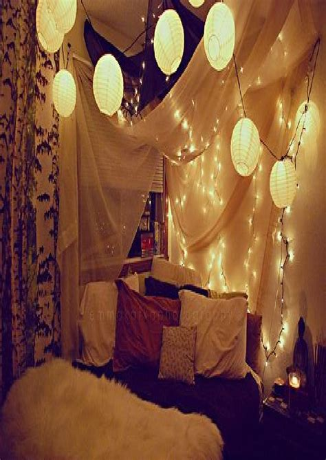 Bedroom Design Ideas For Small With String Lights And Also Lantern Lights For Bedroom