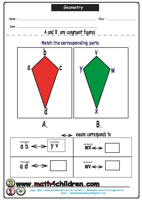 Similar And Congruent Figures Worksheet by Congruent And Similar Shapes Worksheet