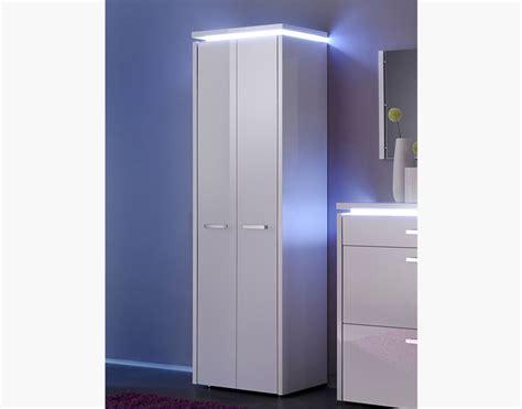 Contemporary Luce 2 Door Tall High Gloss Cabinet/ Shoe