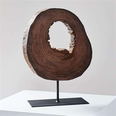 Wood Slice Object On Stand West Elm