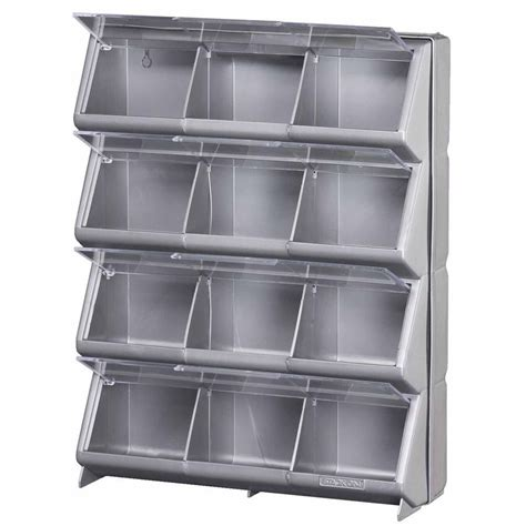 organizer bins stack on 12 bin storage organizer lowe s canada