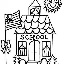 what color is a school school coloring pages school coloring pages