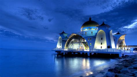 wallpaper hd 1920x1080 sea download 1920x1080 hd wallpaper malacca straits mosque sea