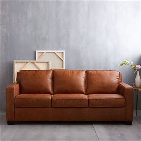 West Elm Henry Leather Sofa by Henry 174 Leather Sofa Tobacco West Elm