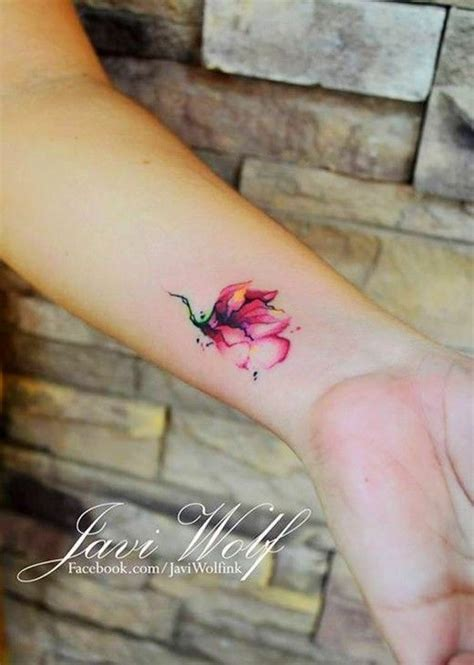 mini watercolor tattoos wrist tattoos tattoo ideas