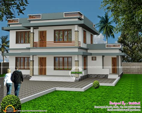 flat roof house flat roof house design by sachin k kerala home design