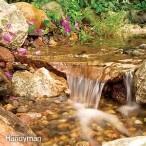 build a backyard waterfall and the family handyman