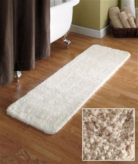 Rug Runners For Bathroom by 54 Quot Microfiber Plush Bathroom Bath Runner Rug W Nonslip