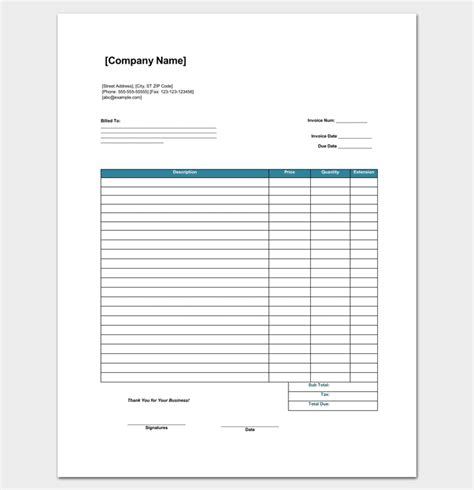 retail invoice template retail invoice template 5 in word excel pdf format