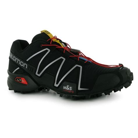 water resistant trail running shoes salomon mens speedcross 3 trail running shoes breathable