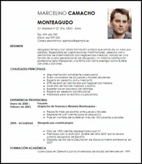 Plantilla Curriculum Para Abogado Modelo Curriculum Vitae Abogados Ejemplo Cv Livecareer