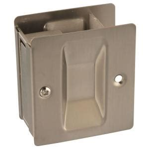 national hardware satin nickel pocket door pull v1950