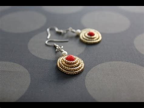 How To Make Handmade Rings - how to make dome shaped spiral earrings wire jewelry