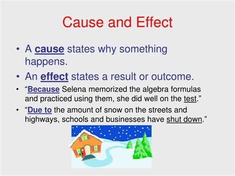 cause and effect pattern of organization words ppt signal words patterns of organization powerpoint