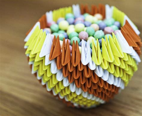 3d Origami Bowl - 3d origami bowl by gracy2227 on deviantart