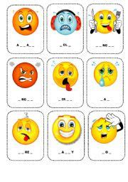printable feelings flashcards for toddlers english worksheets feelings flashcards 1