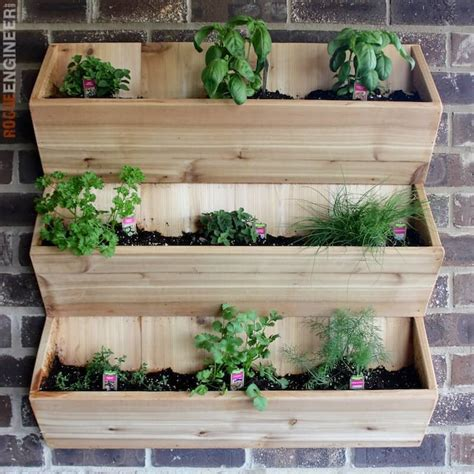 ckb ltd windowsill pots and tray herb planter gift set window box cedar herb planter indoor wall planters
