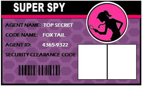 the gallery for gt secret agent badge printable