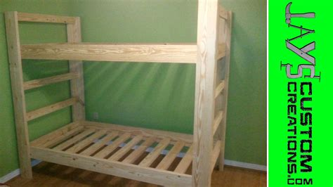 how to build bunk beds twin over twin bunk bed 023 youtube