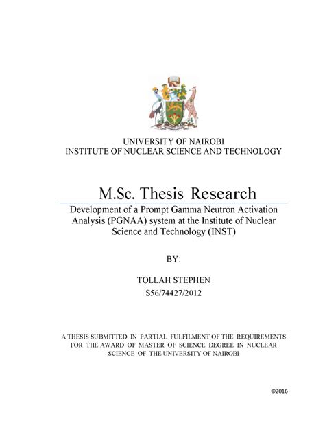 thesis tesis latest news in nuclear science technology institute of