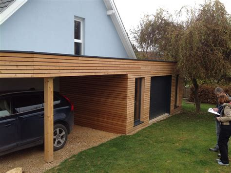 garage bois toit plat construire garage bois toit plat mambobc