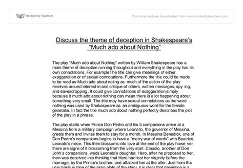 themes of deception in macbeth macbeth deception essay the importance of the theme of