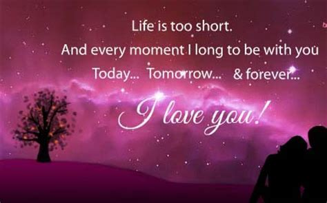 Life Is Short. I Love You Forever. Free I Love You eCards