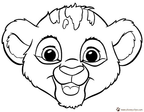 Baby Simba Coloring Pages Coloring Home Baby Simba Coloring Pages