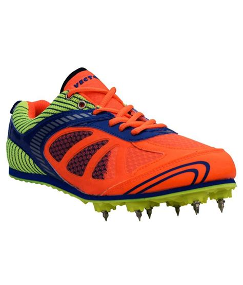 sport shoes vector vector x bolt spike orange running shoes price in india