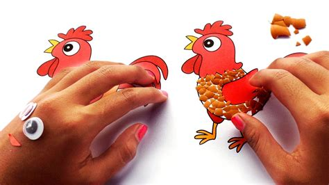 membuat kolase dari kulit telur video anak menempel cangkang telur ayam hd citra