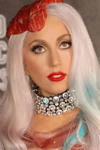 blonde lady gaga hair meat face costume