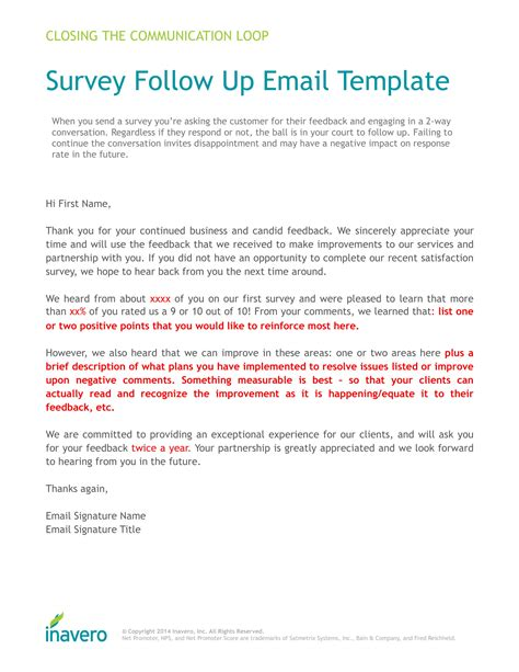 4 Follow Up Survey Forms Pdf Survey Email Template
